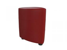 Банкетка 6-5117 Норд кожзам красный