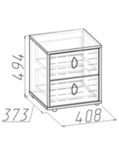 Детская Калейдоскоп Тумба 1 408х373х494