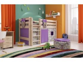 Детская кровать Соня низкая с прямой лестницей Вариант 11