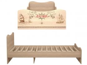 Детская модульная Квест 05 Кровать одинарная без ящика 980х758х1936 мм спальное место 900х1900 мм
