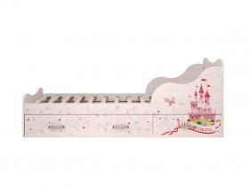 Детская модульная Принцесса 05 Кровать одинарная с ящиком 980х758х1936 мм спальное место 900х1900 мм
