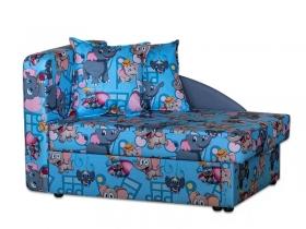 Детский диван Умка эконом велюр Dambo blue-Active plain 21