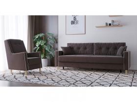 Диван-кровать Айрин арт. ТД-323 шоколадный