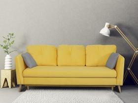 Диван-кровать Анталия-2 Вариант 4 Желтый велюр