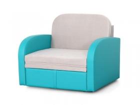 Диван-кровать Кадет М08 Вариант 1 Серо-голубой