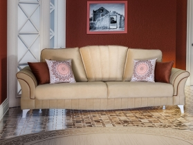 Диван-кровать Каролина арт. ТД-119 золотистый бежевый