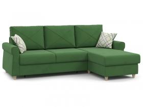 Диван угловой Иветта арт. ТД-356 лиственный зеленый