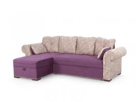 Диван угловой Цезарь Вариант 1 Фиолетовый велюр