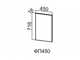 Фасад для посудомоечной машины ФП450 Модус СВ 450х716х16
