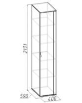 Гостиная Элегия 2 Шкаф для белья 1 400х590х2131