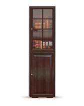 Гостиная Гавана Шпон Стеллаж-витрина СВ-315 с фасадами СВ-316Г и СВ-316В 601х466х2150