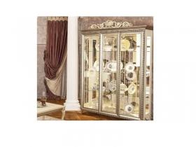 Гостиная классическая Версаль ГВ-04 Шкаф 3-двери без Короны