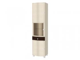 Гостиная Оливия беленый дуб комбинированный ШК-333 Шкаф 2172x540x396