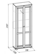 Гостиная Шерлок 11 Шкаф для одежды 798х400х2107