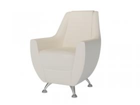 Кресло-банкетка Лилиана 6-5121 кожзам белый