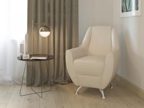 Кресло-банкетка Лилиана 6-5121 кожзам бежевый