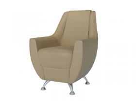 Кресло-банкетка Лилиана 6-5121 кожзам кофе с молоком