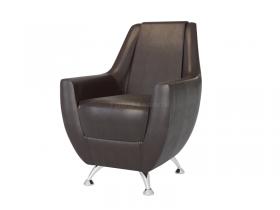 Кресло-банкетка Лилиана 6-5121 кожзам темно-коричневый