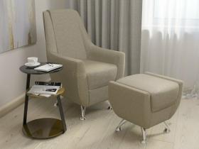 Кресло-банкетка Лилиана 6-5121ТК ткань темно-бежевая