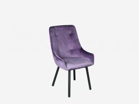 Кресло Бостон велюр лиловый-металл черный