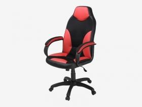 Кресло Дельта красный-черный