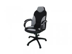 Кресло Дельта серый-черный