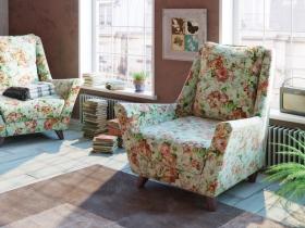 Кресло для отдыха Дали арт. ТК-209 лилии цветные