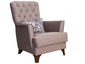 Кресло для отдыха Ирис арт. ТД-961 серо-розовый