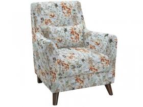 Кресло для отдыха Либерти арт. ТК-228-1 коричневые цветы