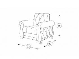 Кресло для отдыха Роуз арт. ТК-116 бежевый песочный
