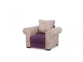 Кресло для отдыха Цезарь Вариант 1 Фиолетовый велюр