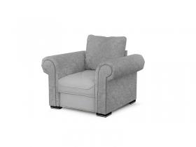 Кресло для отдыха Цезарь Вариант 4 Серый велюр