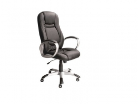 Кресло для руководителя Gloria PVN11 PU01 экокожа черная