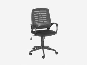 Кресло Ирис сетка черная-ткань В-14 черная
