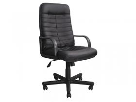 Кресло офисное Jordan PLN PU01 экокожа черная