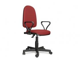 Кресло офисное Prestige Lux gtpPN S16 ткань черно-красная