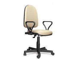 Кресло офисное Prestige Lux gtpPN Z21 кожзам бежевый