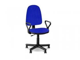 Кресло офисное Престиж Люкс gtpPN S14 ткань черно-синяя