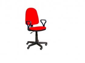 Кресло офисное Престиж Люкс gtpPN S2 ткань красная