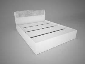 Кровать 1,4 Соренто Белый-МДФ Рамбла ШхВхГ 1440х850х2052 мм