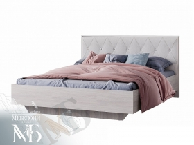 Кровать 1600 Кимберли КР-13 ясень белый