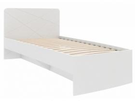 Кровать 800 Абрис белый глянец ПМ-332.01 исп.2