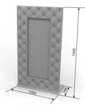 Кровать Агата Зеркало Джульетта 1000х346х1940