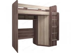 Кровать-чердак с угловым шкафом Доминик М15