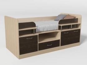 Кровать-чердак Уголок школьника № 7 венге
