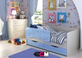 Кровать детская Алиса КР-811 1400 Белфорт/Голубой