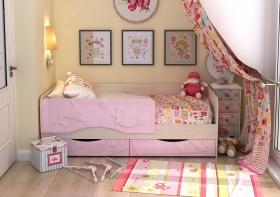 Кровать детская Алиса КР-812 1600 Белфорт-Розовый
