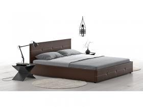Кровать двуспальная Синди с подъемным механизмом шоколад