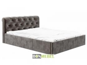 Кровать Калипсо 1600 с ПМ вельвет кофе