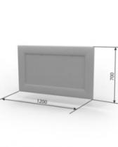Кровать Камила Зеркало Элегия 1200х700